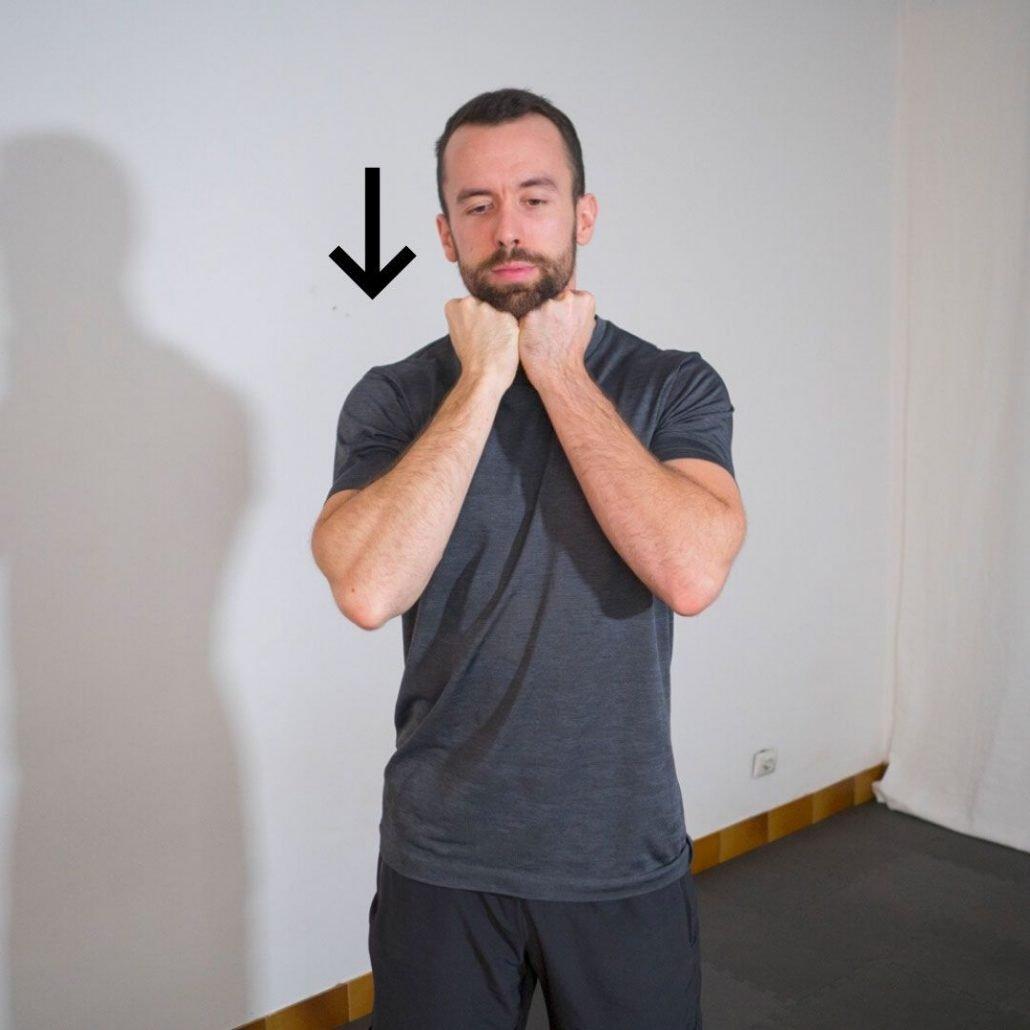 stretchingpro-hernie-cervicales-cou-isometrique-flexion